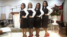 Modelos de fardas para Grupos Evangélicos: Modelo de farda para grupo jovem feminino - Vestid...
