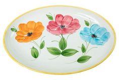 Hand-Painted Italian Serving Platter