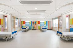 Bright hues and graphic patterns light up this children's hospital in England - Curbedclockmenumore-arrow : Morag Myerscough sought to create an artful space for patients