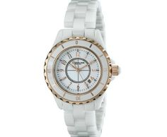 Stuhrling Original Women's Fusion Rose Gold-Layered White Ceramic Watch ►► http://www.gemstoneslist.com/womens-watches/stuhrling-original-womens-watches.html?i=p