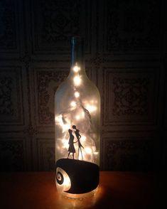 "Home Sweet Hell 🥀 (@homesweethell) on Instagram: ""Nightmare before Christmas wine bottle by ShopOfBottles on Etsy 🌙"""