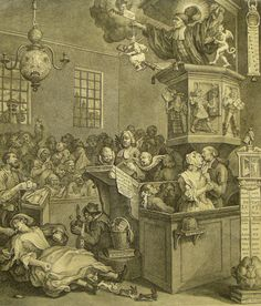 Credulity, Superstition and Fanaticism  William Hogarth, 1760-1762    ...explores the ever dangerous world of fundamentalist religion. Hogarth invents a religious thermometer containing various emotional states such as, agony, lust, madness and suicide. At the thermometer's base rests a diseased brain.