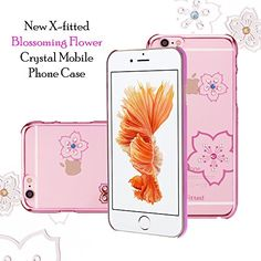 X-Fitted Apple iPhone Plus Blossoming Case Hard Plastic Back Cover, Decoration Bling with Diamond Ultrasonic Embedded Craft for Apple iPhone Plus (Pink) Apple Iphone 6s Plus, Iphone 6 Plus Case, Iphone Case Covers, Latest Electronic Gadgets, Electronics Gadgets, Amazon Mobile, Crystal Mobile, Mobile Covers, Mobile Phone Cases