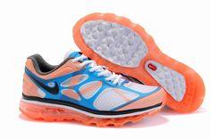 Nike Air Max 2012 White/Mango/Black Blue Men's Shoes