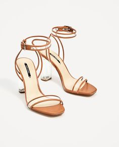 7daa786b98d ZARA - WOMAN - VINYL HIGH HEEL SANDALS Clear Shoes