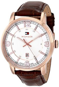 Tommy Hilfiger Men's 1710346 Analog Display Quartz Brown Watch *** This is an Amazon Associate's Pin. Want to know more, click on this Amazon Affiliate link.