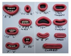 Lip Sync Mouth Shape Kit. This shows how you can show emotions in claymation