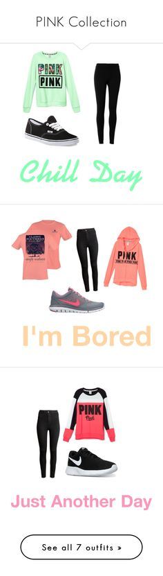 """""""PINK Collection"""" by alyssamcilwraith on Polyvore featuring Victoria's Secret, Max Studio, Vans, H&M, NIKE, Cheap Monday, Lee Renee, Disney, Converse and Aéropostale"""