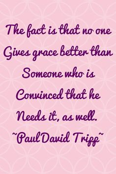 In need of grace