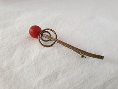 Tie Clip, Brooches, Plastic, Accessories, Vintage, Collection, Fashion, Moda, Brooch