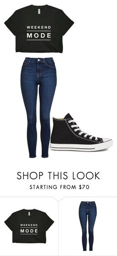 """Untitled #247"" by cruciangyul ❤ liked on Polyvore featuring Topshop and Converse"