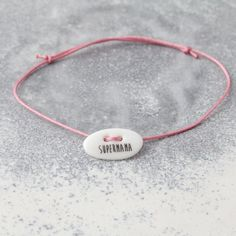 SUPERMAMA Pink, Name Bracelet, Bangle Bracelets, Mont Blanc, Knot, Handmade, Craft