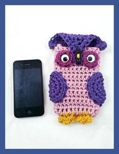Items similar to Pink and Purple Owl Android Case Loop Scarf, Circle Scarf, Stocking Stuffers For Teens, Purple Owl, Cloth Bags, Iphone Cases, Crochet Hats, Knitting, Android
