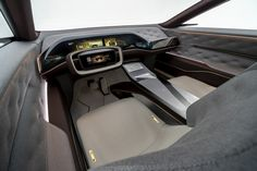 QX Inspiration Concept Is An Unrealistic Teaser Of Infiniti's New Electric SUV Car Interior Sketch, Car Interior Design, Luxury Interior, Aston Martin Interior, Car Ui, Teal Accent Chair, Accent Chairs, Mid Size Suv, Id Design