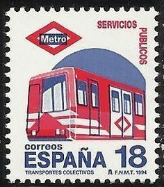 "Sobre Filatelia y Ferrocarriles: Serie 2000 ""Metro de Madrid"" (España, 1994)"