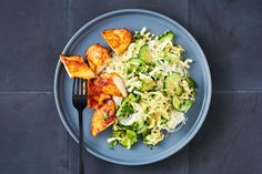 Photo for the dish: Korean Grilled Chicken with Kimchi Glass Noodle Salad