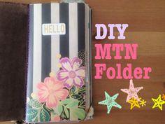 DIY Tutorial | Easy Kraft Folder for Midori Traveler's Notebook