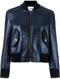 MSGM Woven Bomber Jacket. #msgm #cloth #jacket