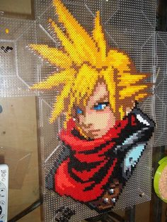 HUGE Perler Bead Cloud FFVII by ~BamffaloCrafts on deviantART