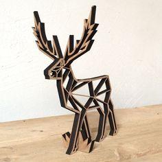 Hirsch Holz Motiv Deko von NOGALLERY via dawanda.com