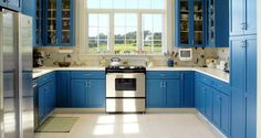 7 Colorful Kitchens That Will Make You Want to Paint Your Cabinets - Porch Advice