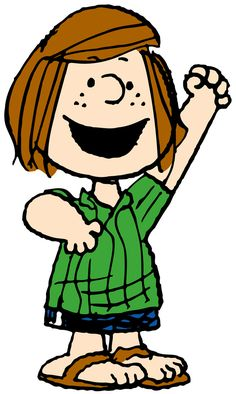 """Patricia Reichardt aka """"Peppermint Patty"""" """"Peppermint Patty, the tomboy, is forthright, doggedly loyal, with a devastating singleness of purpose, the part of us that goes through life with blinders on."""""""