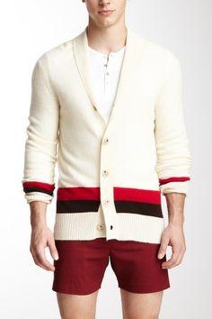 Pembroke Stripe Cashmere Cardigan on HauteLook