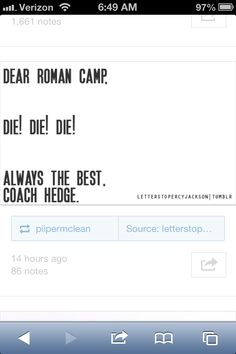 hahahaha! coach hedge is my 3rd favorite character after Nico and Leo