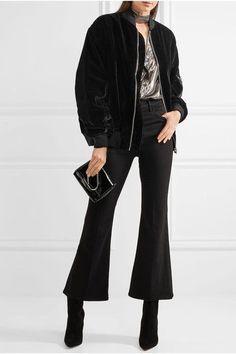 Black cotton-velvet Zip fastening through front  100% cotton; lining: 100% cotton  Dry clean  Imported