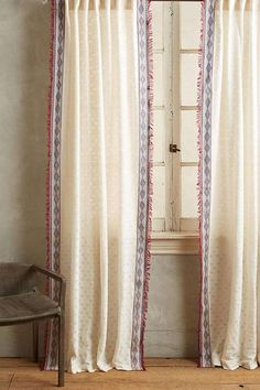 Exotischer Vorhang Für Einen Boho Chic, Ethnische Oder Natürliche  Einrichtung