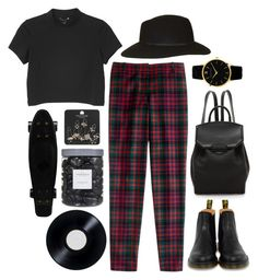 """Be careful on the streets, darlin"" by eddine ❤ liked on Polyvore featuring Monki, J.Crew, Dr. Martens, Topshop, Threshold and Alexander Wang"