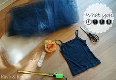DIY No-Sew Tutu Flower Girl Dress Tutorial - Rave & Review - Used in different colors for Halloween costumes? (princesses, etc.)