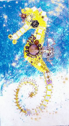 Yellow Seahorse by lalainyastream on Etsy, $1700.00