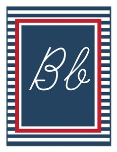 Preppy Nautical Red and Navy Blue Alphabet Letters Cursive New Classroom, Classroom Design, Classroom Themes, Alphabet Line, Cursive Alphabet, Schoolgirl Style, Ocean Themes, School Themes, Banner Template