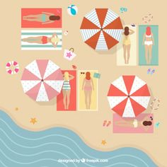 Sunbathing Free Vector