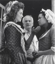 Greta Scacchi, James Ivory and Thandie Newton on-set Jefferson in Paris (1995)