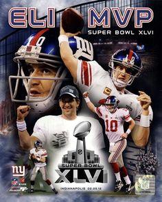 Eli Manning Super Bowl XLVI MVP 2012