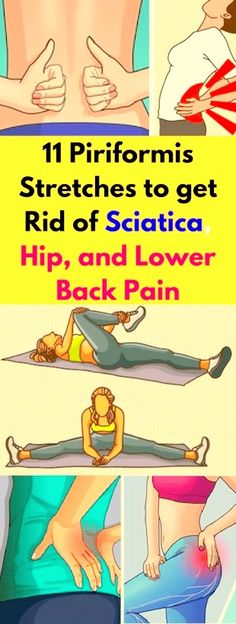 Here 11 Piriformis Stretches To Get Rid Of Sciatica, Hip, & Lower Back Pain! -… Here 11 Piriformis Stretches To Get Rid Of Sciatica, Hip, & Lower Back Pain! Sciatica Symptoms, Sciatica Pain Relief, Sciatica Exercises, Sciatic Pain, Hip Flexor Stretches, Tight Hip Flexors, Stretching Exercises, Fitness Workouts, Fitness Diet
