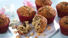 Oppskrift på Sjokolade- og peanøttmuffins