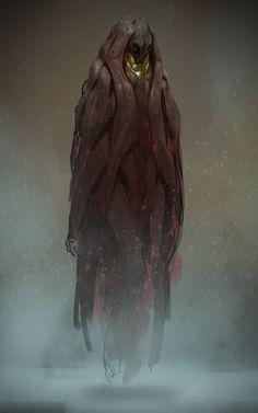 the concept art and illustration of trevor claxton Alien Concept Art, Creature Concept Art, Fantasy Monster, Dark Fantasy Art, Monster Art, Alien Creatures, Fantasy Creatures, Creature Feature, Creature Design