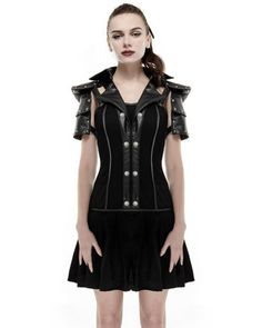 Punk rave #military #dress black goth steampunk dieselpunk leather armour #harnes,  View more on the LINK: http://www.zeppy.io/product/gb/2/142006511023/