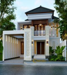 Dita Private House Design- Denpasar, Bali- Quality house design of architectural services, experienced professional Bali Villa Tropical designs from Emporio Architect. Unique House Design, House Front Design, Minimalist House Design, Contemporary House Plans, Modern House Plans, Denpasar, Bali House, Facade House, Home Design Plans