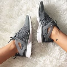 All in the details! @_agirlobsessed gets comfy with the Nike Free Viritous Fleece Sneakers, featuring a fleece upper for extra coziness. Shop these must have kicks now at Stylerunner.com #stylerunner #stylesquad