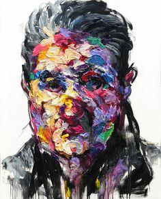 [128] untitled oil  on canvas 162.2 x 112.1 cm 2013 by KwangHo Shin, via Behance