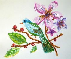 watercolor bird by Marina Barbato