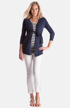 Seraphine+'Jasmine'+Tie+Maternity+Cardigan+available+at+#Nordstrom