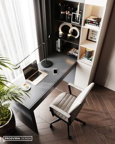 20 Marvelous Bedroom Cabinet Design Ideas For Your Home Inspiration Home Office Setup, Home Office Space, Home Office Furniture, Office Ideas, Small Office, Office Interior Design, Office Interiors, Office Cabinet Design, Bureau Design