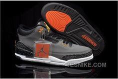 the latest 176a0 3fe22 Homme Nike Air Jordan 3 Gris Noir Orange  S08v  Air Jordan Shoes, Air