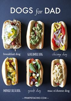 If you're going to eat a hot dog, then power them up like this. A lot of these toppings would be great on any sandwich too! Dog Recipes, Great Recipes, Cooking Recipes, Favorite Recipes, Recipes With Hotdogs, Food For Thought, Gourmet Hot Dogs, Hot Dog Toppings, Hot Dog Bar