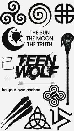 Resultado de imagem para teen wolf symbol                                                                                                                                                                                 Más